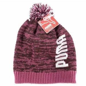 Puma Shimmer Pom Beanie Pink Women's Winter Hat